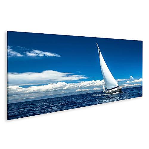 islandburner Cuadro en Lienzo Veleros con Velas Blancas en mar Abierto Barcos de Lujo Cuadros Modernos Decoracion Impresión Salon