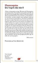 De l'esprit des lois, tome 2 de Montesquieu