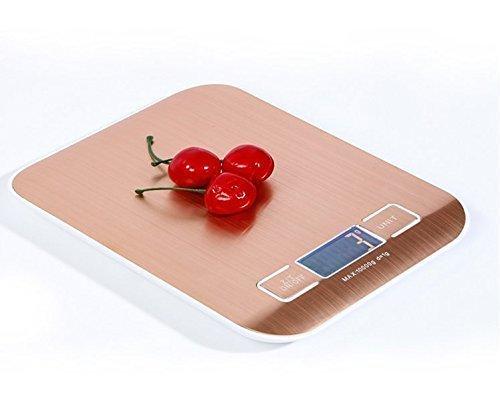 urgrace couleur or rose professionnelle 22LB 1 G avec 10kg acier inoxydable Digital Cuisine échelle Kichen cuisson Mesurer Outils Poids électronique écran LCD Food Scale