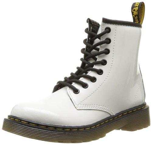 Dr. Martens 1460 Toddler Brooklee Boot (Toddler) White Patent Lamper 9 UK (US 10 Toddler) M