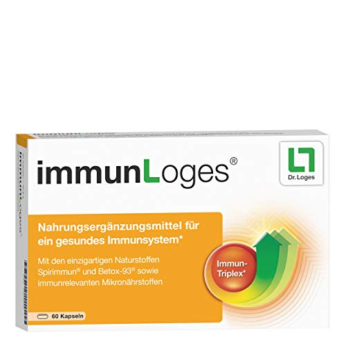 immunLoges Nahrungsergänzungsmittel für das Immunsystem - 60 Kapseln, enthält Spezial-Extrakt aus Spirulina-Alge und hochreine ß-Glucane sowie immunrelevante Mikronährstoffe
