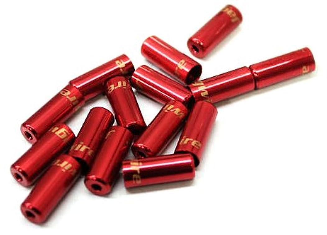 摘むヶ月目広々としたJagwire(ジャグワイヤー) Open End Caps 5.0mm レッド BOT192-RJ