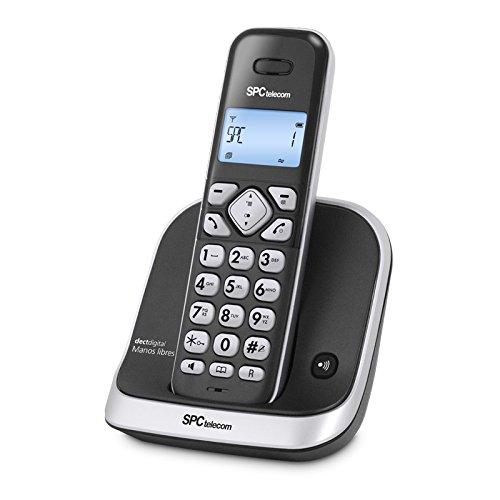 SPC Telecom 7261 - Teléfono fijo digital (inalámbrico, pantalla LCD, identificador de llamadas), negro: Amazon.es: Electrónica