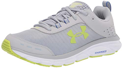 Under Armour Charged Assert 8, Zapatillas para Correr Hombre, Mod Grey 113 Blanco, 45 EU