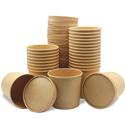 Cartón de Comida, 25 Piezas Cartón de Sopa, Envases Take Away, A...