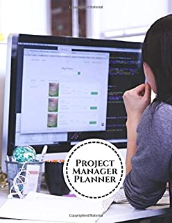 """Project Manager Planner: Perfect Manager Organizer, Meeting Schedule Attendees, Execution Plans, Cost Control, Make Actions Notes, Follow Up Item, Reminder Notes, 8.5"""" x 11"""". (Project Logs)"""