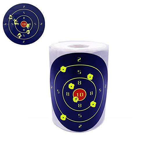 ElysiumStar 200pcs/Roll 4 inch Shooting Splatter Targets Stickers, Adhesive Reactive Targets, Range Targets Splatter Paper for Shooting Archery Bow Hunting Practice Training