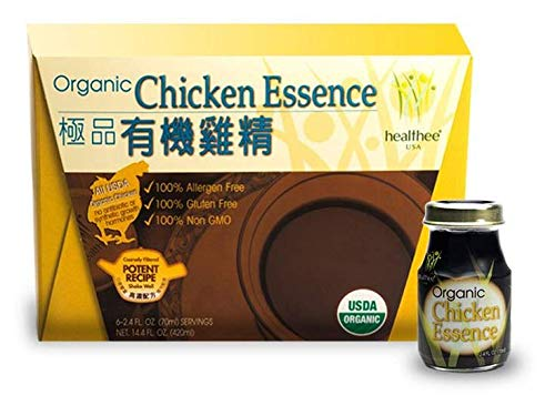 Healthee Chicken Essence Extract Drink, Premium Brand and Organic, Glass Bottle, 2.36 Ounces (70 ml)...