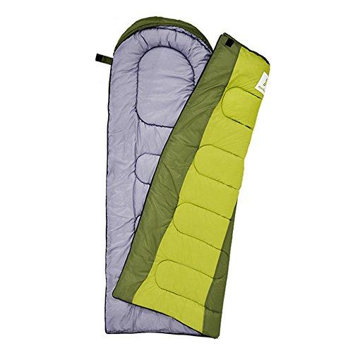 HM&DX Saco de Dormir Camping Adulto,Rectangular 4-Seasons Impermeable Algodón Bolsa de Dormir Saco de compresión Hiker mochilero Viajar Actividades al Aire Libre -Verde 1.95KG