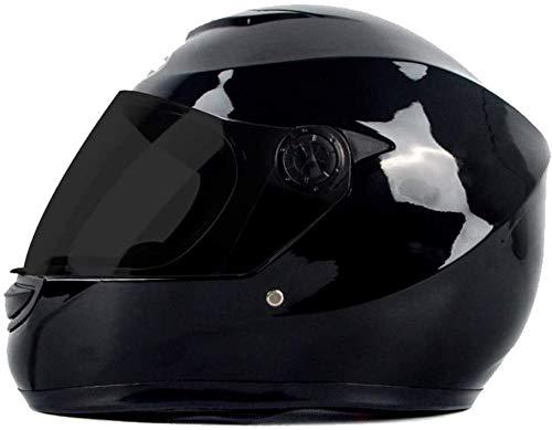 JIBO Voll- Gesicht Anti- Nebel Motorrad Helm, Licht Motorrad Anti- Kollision Helm, Motorrad Helm mit Sonne Visier, Geeignet zum Erwachsene/Kinder,D_L=56~59cm