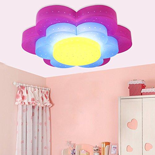 owow simple moderne salle pour enfants merveilleux et frais fleur LED PC principal plafonnier pour les garçons ou filles séjour Décoration plein d'imagination, 450 * 450 * 100