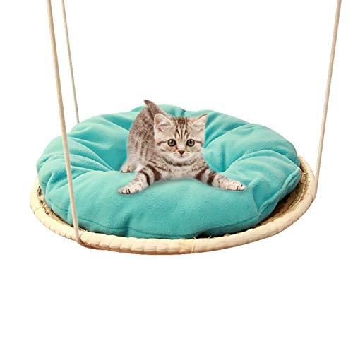 Hängematte Kkatze Hängematte Katzenhängematte Katzenhängematte Katzen Kletterwand Katzen Hängematte Aus- Reine Naturmaterial, Mit Dicke Schlafunterlage, Grün Und Umweltfreundlich, Bequem Und Langlebig