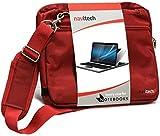 Navitech Rot Fall/Abdeckung Trage Tasche Kompatibel Mit Dem Acer Extensa 2540 15.6-inch Full HD Laptop