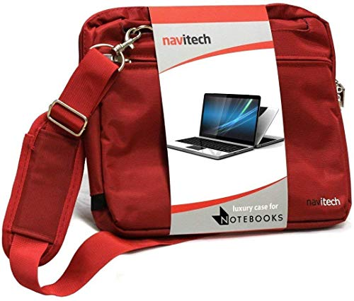 Navitech Red Premium Messenger/Carry Bag Compatible with The Dell Inspiron G5 15-5590 15.6'