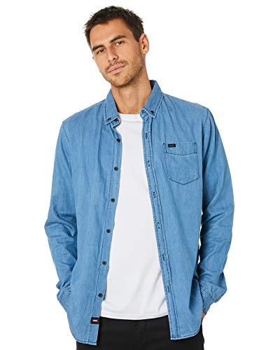 Globe Goodstock Oxford LS Shirt Chemise Homme, Indigo, S