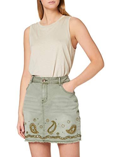 Desigual Womens FAL_BILLI JEANS Skirt, Verde, 36