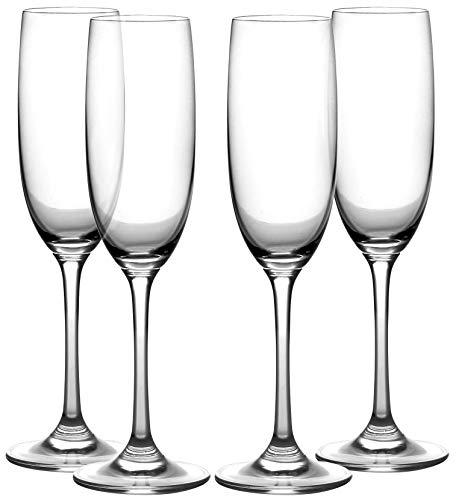 Champagne Flutes, Set of 4