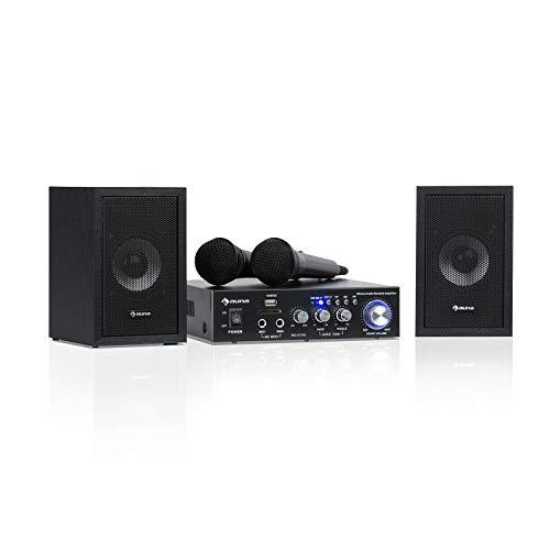 auna Karaoke Star 2 karaokeset - karaokesysteem, karaokesysteem, 2 x 50 W max., Bluetooth, USB/SD, line-in, incl. Microfoons, luidsprekerkabel, zwart