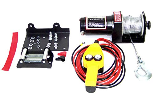 Lowest Prices! 12V 2000 LB CAPACITY POWER CABLE ATV WINCH KIT 12 VOLT RECOVERY TOWING TOW