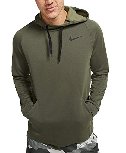 Nike Mens Therma Fleece Pull Over Hoodie Medium Olive/Black BV2710-222-Size 2X-Large
