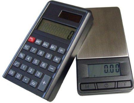 G&G PC 1000g/0,1g Taschenwaage & Taschenrechner (2 in 1) Feinwaage Digitalwaage Goldwaage Münzwaage Scale (1000g x 0.1g)