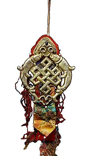 LAOJUNLU Los neumáticos de cobre son golpeados y tallados a mano y las banderas de oración son cosidas a mano por Piscis antigua colección de solitaria joyería de estilo tradicional chino