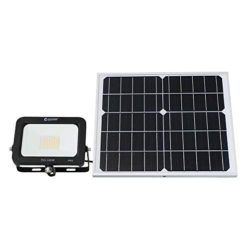 グッドグッズ(GOODGOODS) LED ソーラーライト 30W 電球色 屋外 分離型 ソーラー 投光器 防水 充電池交換可 庭 駐車場 玄関 廊下 TYH-34DW
