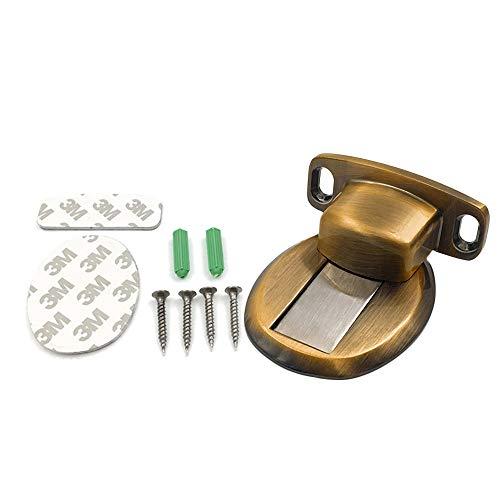 Magnet Türhalter Befitery Magnetisch Türfeststeller Boden Türstopper mit 3M Kleber und Schrauben für Tür von Schlafzimmer Büro Küche (Gelbbronze)