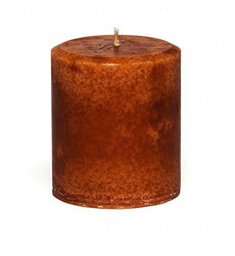 Jensan Cinnamon Orange Scented Decorative Pillar Candle, Handmade – Decorative – Strong Scent