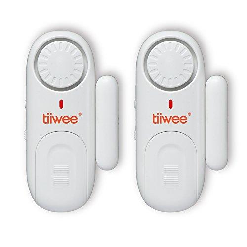 Tiiwee Allarme Finestra e Porta 120dB Sicurezza Casa - Batterie Incluse – Set di 2