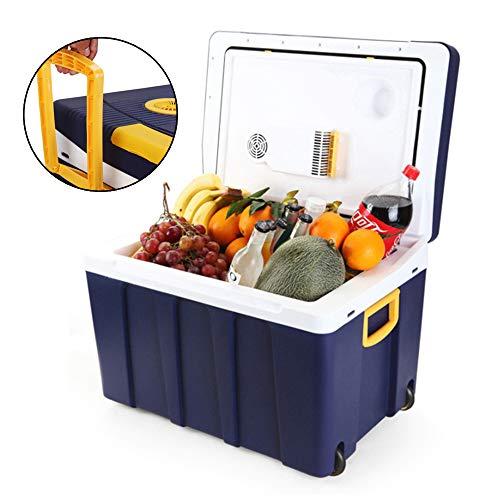 AMBM 50 litros Nevera Termoeléctrica Portátil Calor/Frío Mini Refrigerador Conexiones 12V&220V Nevera Portátil Eléctrica para Coche Viaje Camping