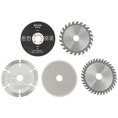 5 STÜCKE Mini Kreissägeblatt Feinbearbeitung Trennscheiben Hohe Qualität Hartmetall durchmesser Innen-15mm Außen-85mm für Schneidwerkzeug