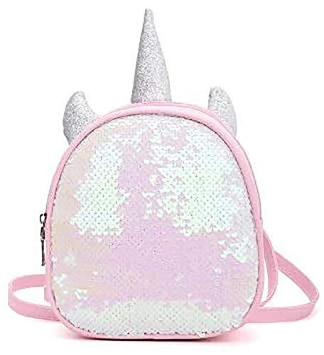 BETOY Mini Sequin Rucksack ,Fashion Shiny Bling Glitter Sequins Mädchen Einhorn Pailletten Rucksäcke Schultasche Unicorn Kinderrucksack Jungen Glitzer Leichtgewicht pink