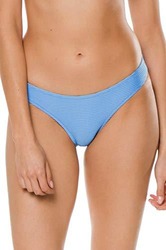 Heidi Klein Women's Cairns Textured Hipster Bikini Bottom Light Blue L