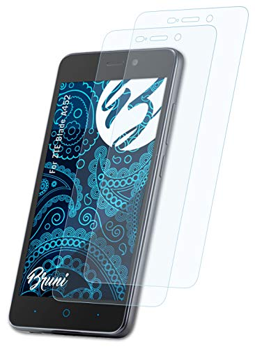 Bruni Schutzfolie kompatibel mit ZTE Blade A452 Folie, glasklare Bildschirmschutzfolie (2X)