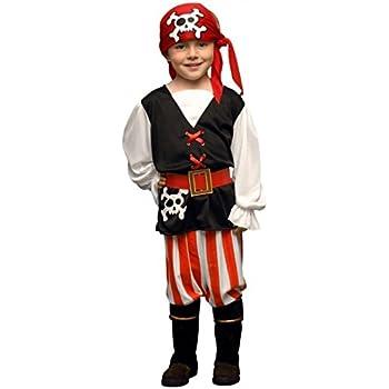 Juguetes Fantasia - Disfraz pirata niño 3-4 años: Amazon.es: Ropa ...