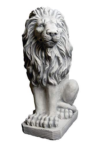 gartendekoparadies.de Herrlicher Löwe Blickrichtung Links Torwächter aus Steinguss, frostfest
