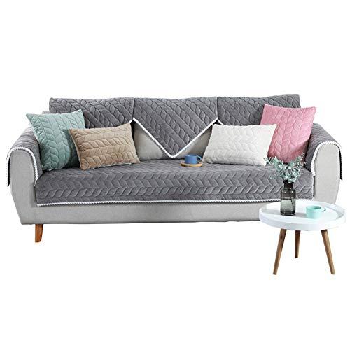 Plüsch Sofa Schonbezug,moderne Sofa Handtuch,rutschfeste Möbel Beschützer,Anti-rutsch Sofabezug Wohnzimmer Sofabezug,Sofabezug für Ledersofa Sectional Couch,Haustier Beschützer,Multi Größe