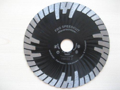 ChilliCut Diamantscheibe 230 x 22,2 mm FSG Speedcut HIGH-END Profi Diamanttrennscheibe Mauerschlitzfräse 12mm Segment Granit Beton Kalksandstein Naturstein Mauerschlitzer
