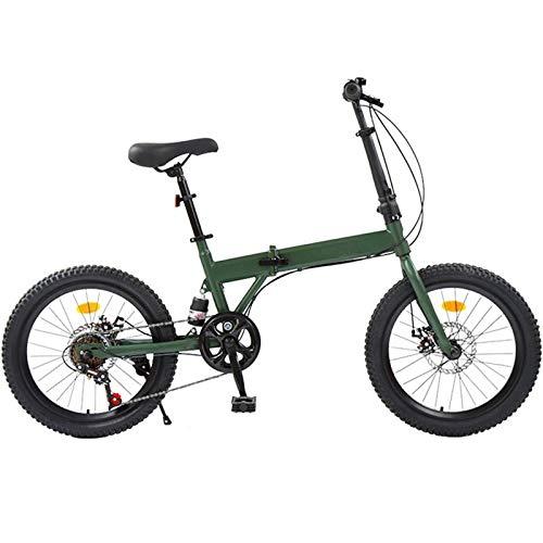 Las Bicicletas Plegables 145cm, Engranajes 7speed Bicicletas, 26 Pulgadas Mini Portátil Comfort...
