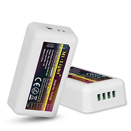 mi-light ® fut036Receiver LED Dimmer Simple warmweiß oder kaltweiß LED Streifen-Controller 10A 4Zone