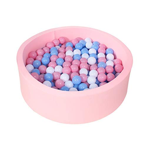 LINGLING-Corralitos Piscina de Bolas de océano for niños Juguetes de Bolas for el hogar Valla de Interior Bolas de Olas Piscina de Juegos de Moda pequeña Parque Infantil (Color : Pink, Size :