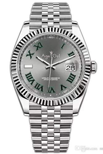 QWERTU Famosos Nuevos Hombres Automáticos Mecánicos Luminosos Datejust Acero Inoxidable Zafiro Plata Amarillo Oro Verde Roma Relojes 41mm 5