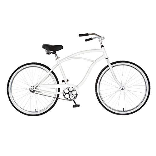 Cycle Force Cruiser Bike, 26 inch Wheels, 18 inch Frame, Men's Bike, White