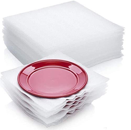 IMBALLAGGI 2000-100 Fogli in Schiuma per Imballaggio Delicati - Fogli in Poliuretano Espanso Imballaggio, Trasloco, Protezione Fragile Vetro, Porcellane, Stoviglie ecc. - Confezione da 100 Pezzi