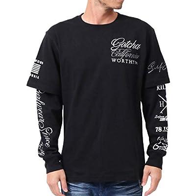 [ガッチャ] GOTCHA Tシャツ 長袖 フェイクレイヤード ロンT 203G1105