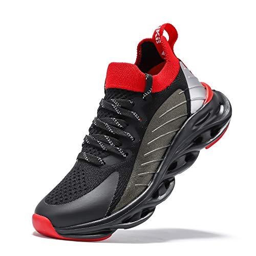 Zapatillas de deporte para niños, zapatillas para niños, zapatillas de deporte, informales, transpirables, ligeras, unisex, para niños, color Negro, talla 36 EU