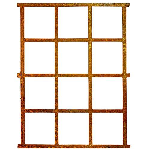 aubaho Fenster Rost Stall Eisenfenster Scheunenfenster Eisen Antik-Stil Gitter 95cm