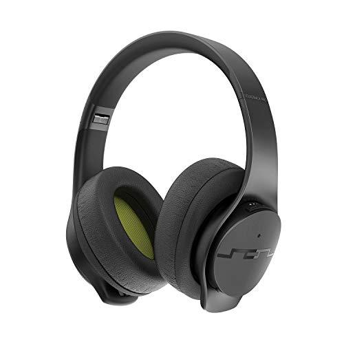 SOL Republic Soundtrack Pro ANC-Over-Ear Kopfhörer - Aktive Geräuschunterdrückung, Bluetooth, kabelgebunden & drahtlos, 32 Stunden Spielzeit, Schnellladetechnologie, faltbar, gepolstert, Mikrofon
