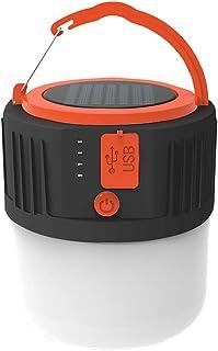 Eastdall Lanterna de acampamento recarregável com USB multifuncional Painel solar portátil Lâmpada de mão LED impermeável ...